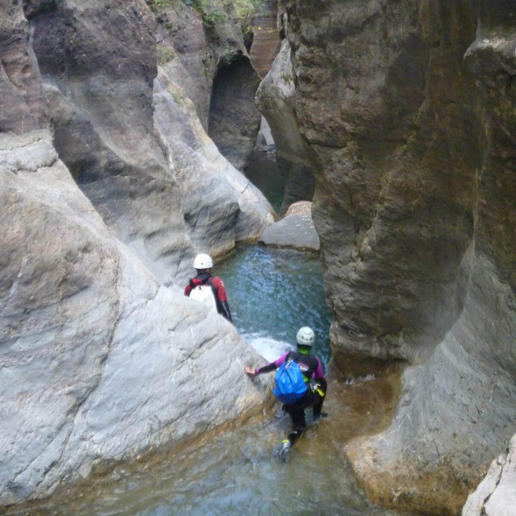 Canyoning Gorgole en Aragon