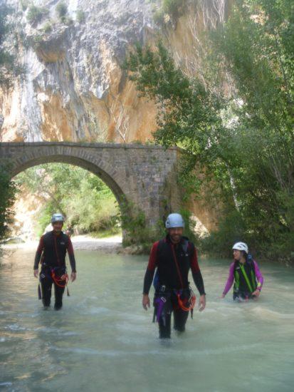 Canyoning dans le Vero en Sierra de Guarra avec Escarando