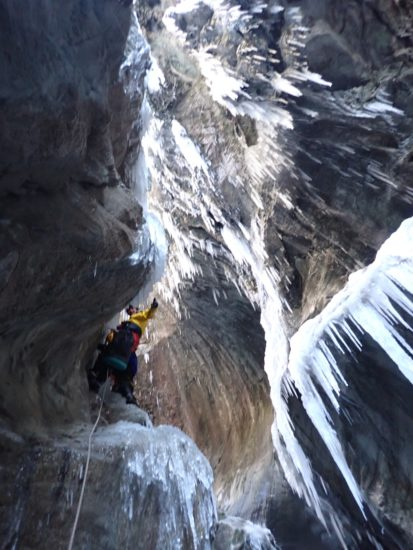canyoning caneigt hivernal